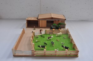 Small Model Farm Yard Wooden Handcrafted Farm Sets