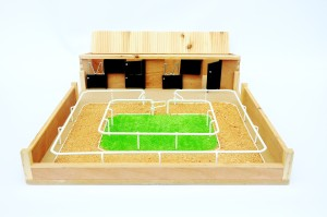 Model Small stables and horse arena